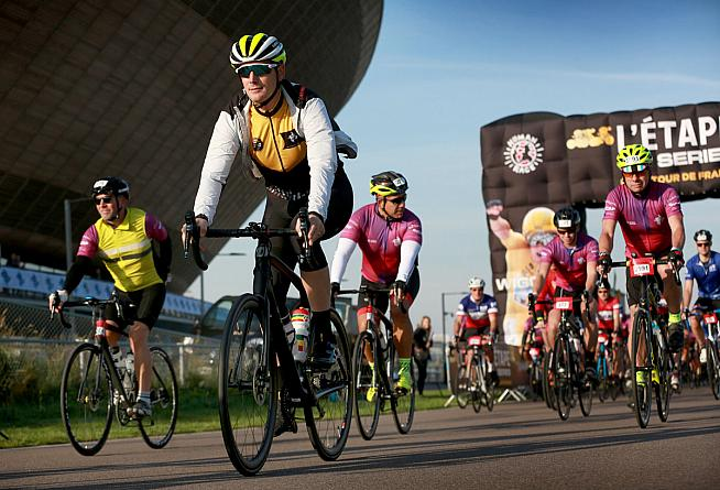 TP ICAP L'Etape London rolls out from the capital's Olympic Park.