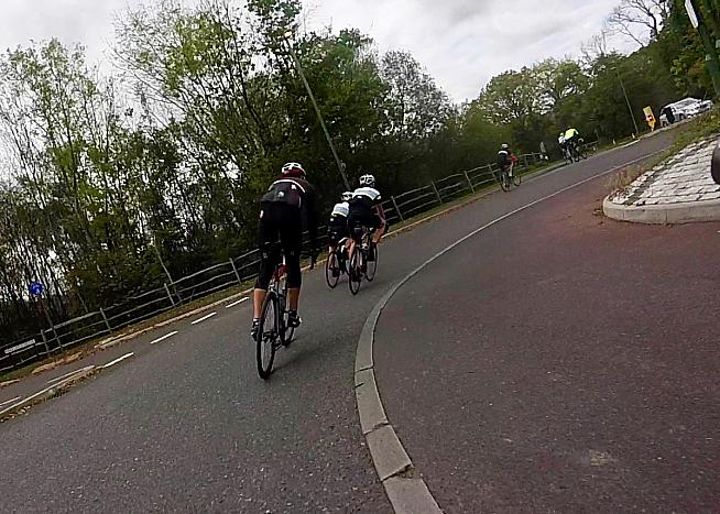 High speed thrills aplenty as the course undulates up and down the Surrey Hills.