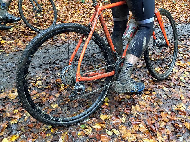 The clue's in the name... Panaracer's Gravelking tyres aren't designed for sloppy mud trails but the Bokeh got me through it.