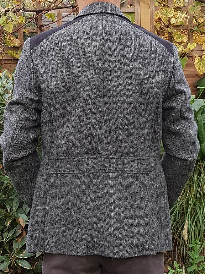 The jacket viewed from the back.