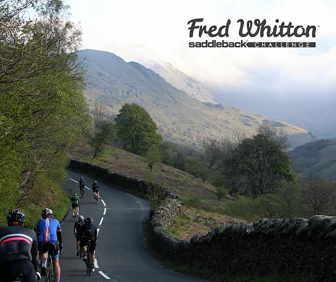 Riders snake along a Lakeland pass on the Fred Whitton Challenge.