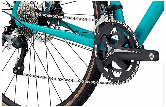 The Arkose 2 is specced with a 'cross-specific 48/32 chainset by FSA.