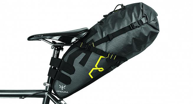 WIth its 17L capacity the Apidura Expedition saddle pack opens up a world of fast touring on your best bike.