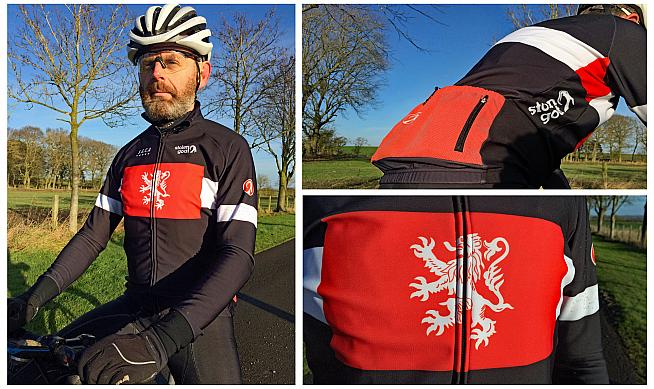 The Orkaan is designed as a three-season jersey with weatherproof outer and a soft roubaix lining.
