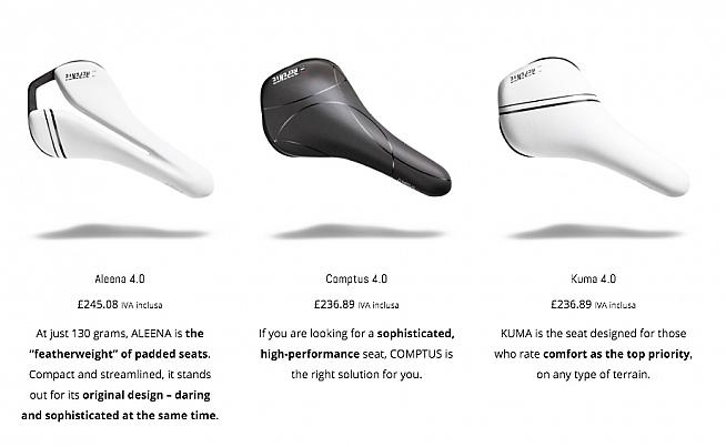 Three cover or 'pad' options are available each wth different comfort and performance characteristics.