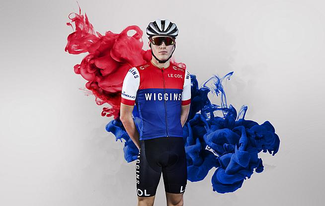 19cb0dce9 The new Team Wiggins kit by Le Col is unveiled in a puff of patriotic smoke