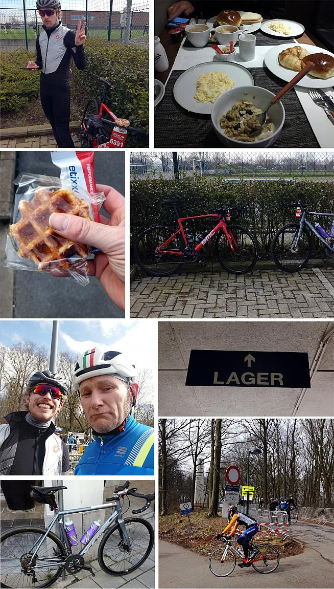 Coffee. Cobbles. And enough waffle to power a small cycling website... it can only be Belgium.