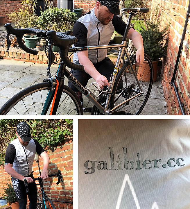 Ben doing some majestic pre-ride fettling in the VentUltra Gilet.