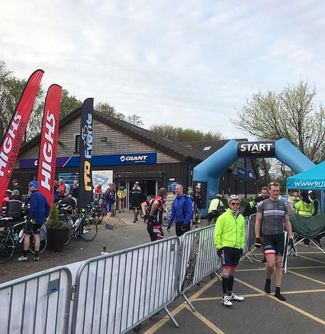 An early start for the 2018 edition of the Rutland CiCLE Tour sportive.