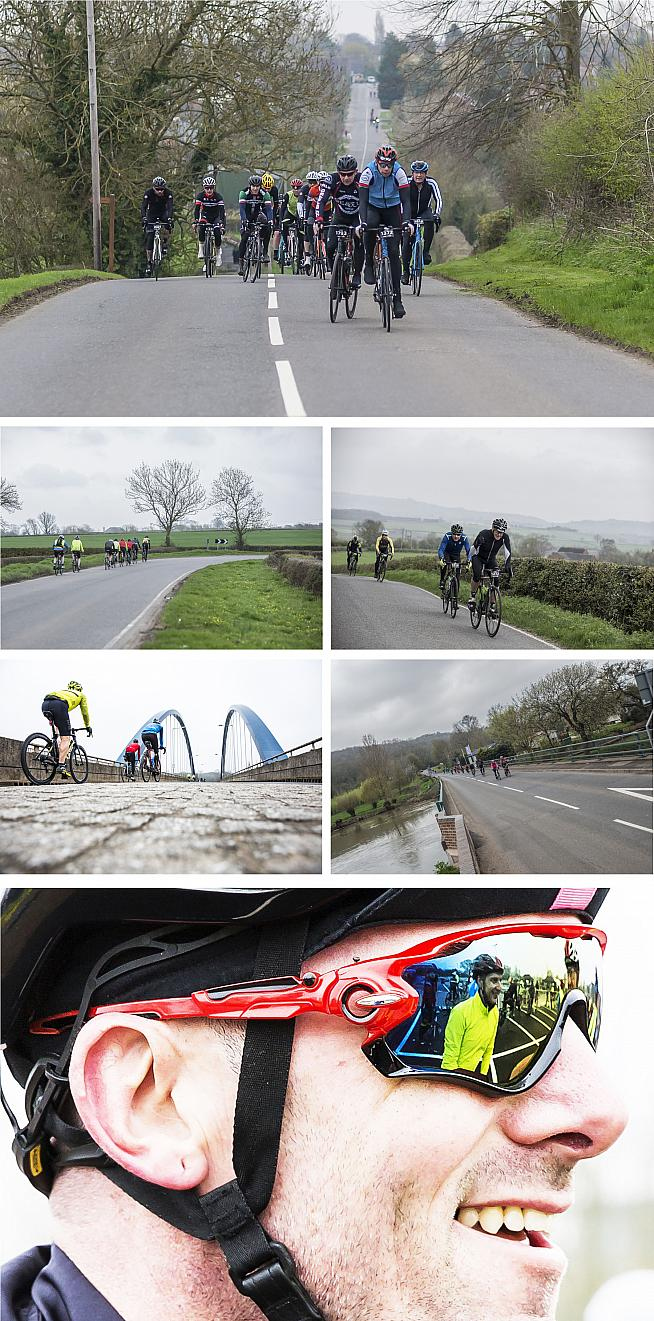 The picturesque route passes through Shakespeare country and takes in some climbs on the edge of the Cotswolds.