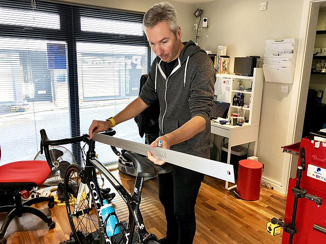 Proper bike fit expert Ross runs the rule over Dave's Colnago setup.