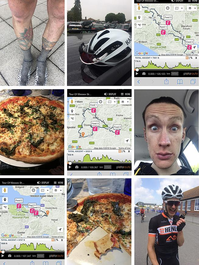 Filth and pizza. Jim's happy memories from the 2018 Tour.