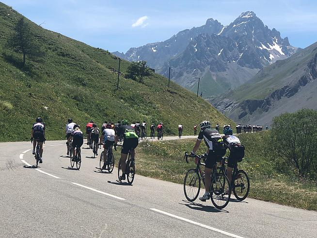 Riders on the Galibier. This year's Marmotte has been moved to 5 September.