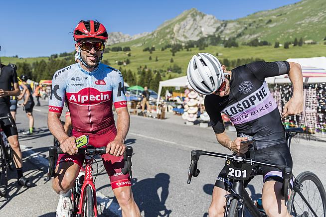 Katusha Alpecin's Nathan Haas wrote afterwards about finding unexpected inspiration in this gran fondo.