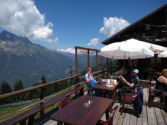 The sun terrace of La Bergerie has amazing views