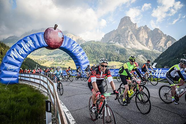 Entries for the 2019 Maratona Dles Dolomites are open until 8th November. Credit: Sportograf