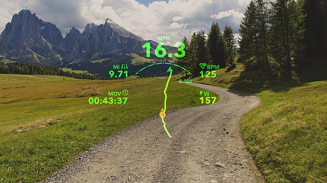 View ride metrics like speed and power and even navigate using the Raptor's in-vision display.