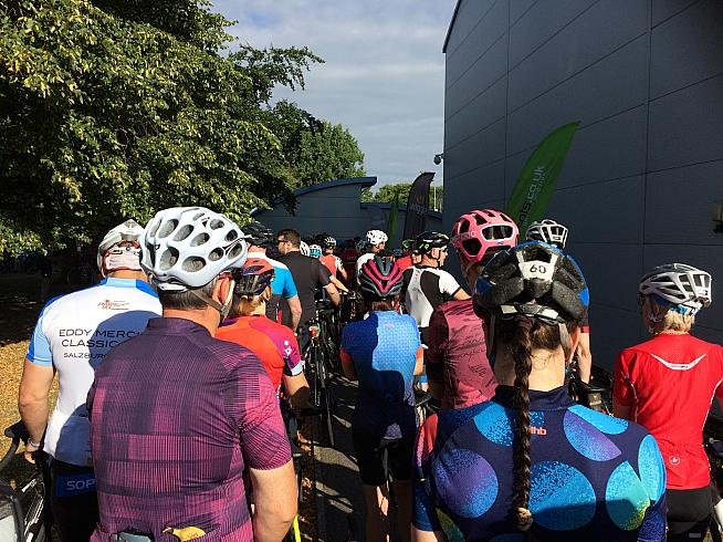 Queues at the start line were the only minor hassle on a great day's cycling.