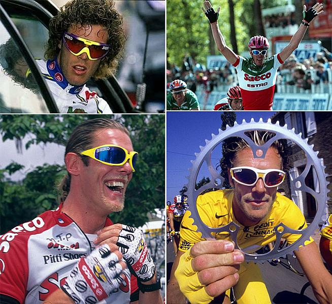 ...and cyclists looked like WWF stars.