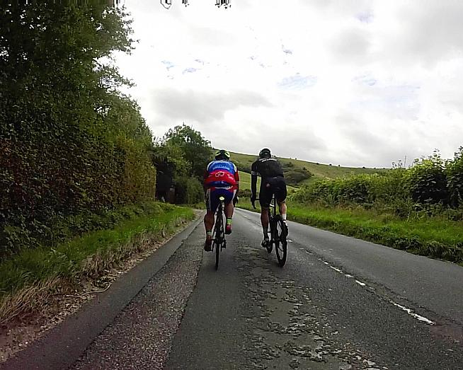 Approaching Ditchling Beacon - testing ground for Orro bikes and locals' legs alike.