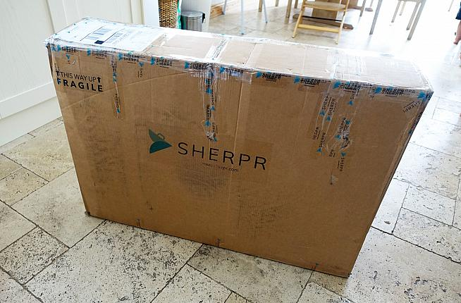 The SHERPR box is smaller than your average bicycle box...