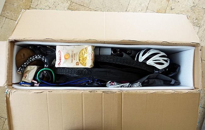 But it still fitted my cyclocross bike along with bikepacking kit and some bags of tagliatelle.