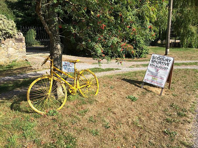 A poignant dash of Tour de France razzmatazz in Sodbury.