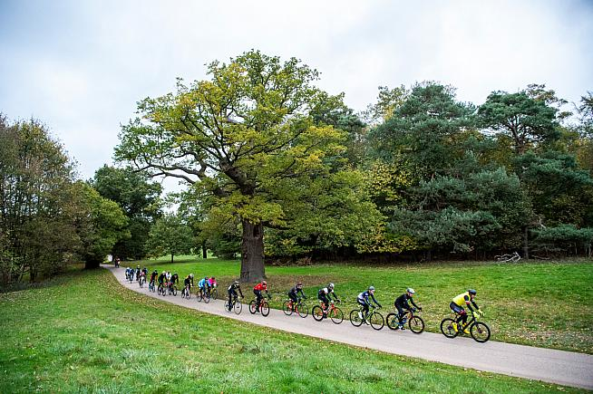 Red Bull Timelaps challenges riders to complete the most laps of the Windsor Great Park circuit. Photo: Mark Roe