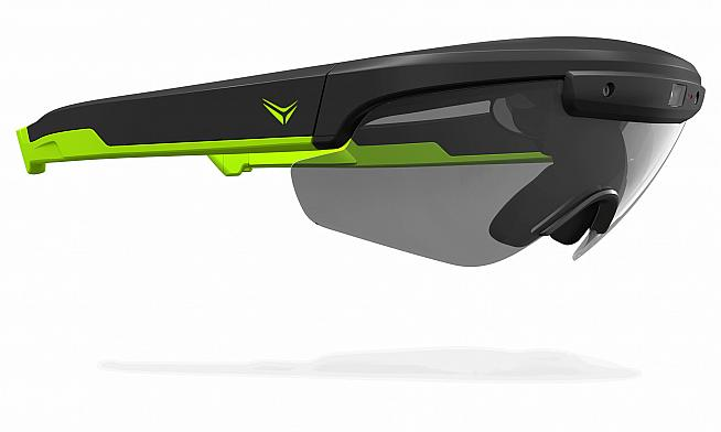 Raptor AR Smartglasses pack all the features of a cycling computer into a heads up display.