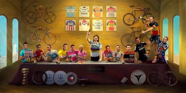 The Last Supper: Cycling Legends - prints available from Hommage au Velo.