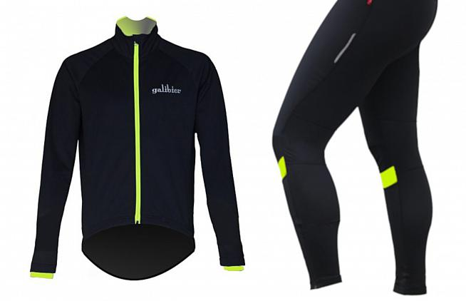 Galibier's Mistral jacket and winter tights provide a strong line of defence against adverse weather.