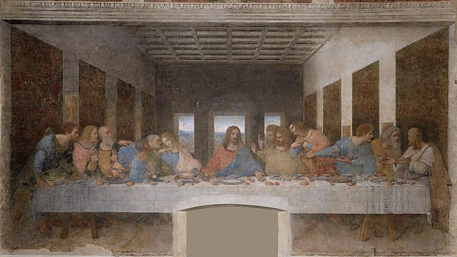 The original: Leonardo da Vinci's Last Supper. He didn't invent the bicycle by the way!