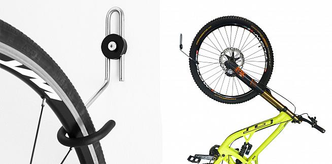 The GearHooks hangers are rated to 20kg and suitable for road and mountain bikes.