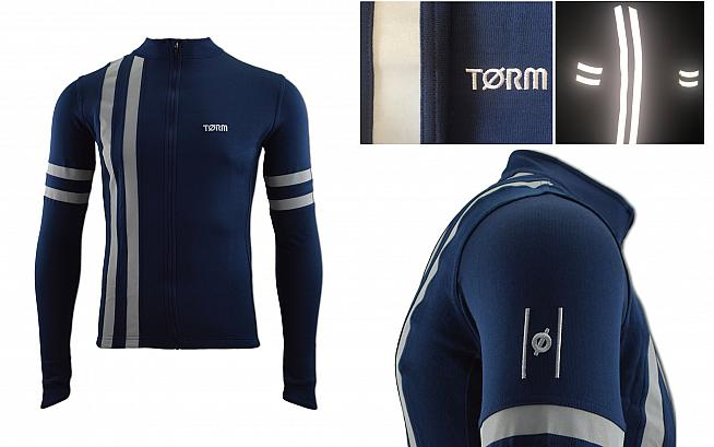 The Torm LE5 jersey features reflective detailing to boost visibility in gloomy winter conditions.