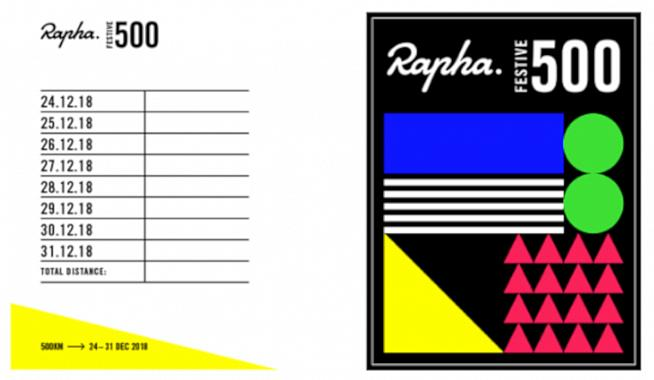 Ride 500km over the Christmas holidays with Rapha.