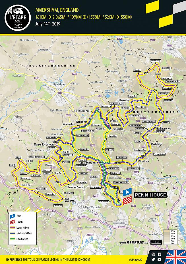 The route for this year's Etape UK.