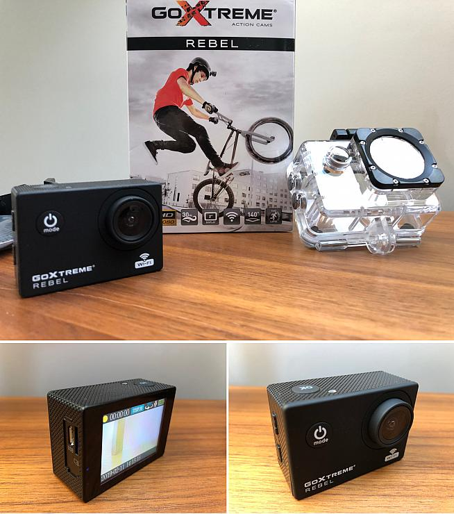 The GoXtreme Rebel is bundled with a waterproof case and mounts for all your action sport needs.