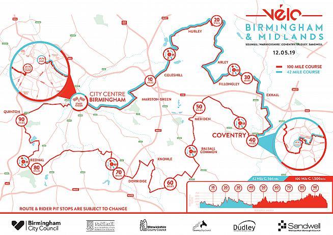 Velo Birmingham & Midlands now offers a 42-mile route alongside the 100-mile option.