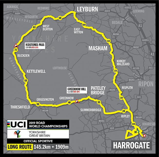 Experience the UCI Road World Championships and ride the course in Harrogate this September.