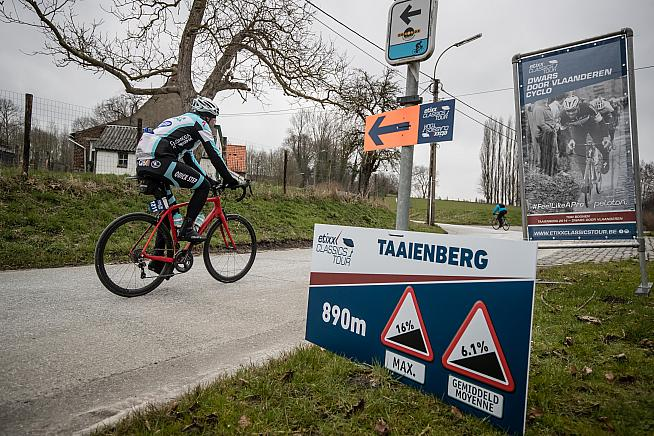 Take on the Taaienberg on the Dwars door Vlaanderen Cyclo.