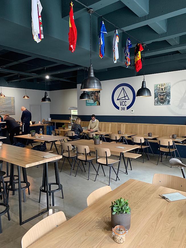 Plenty of space inside the cafe