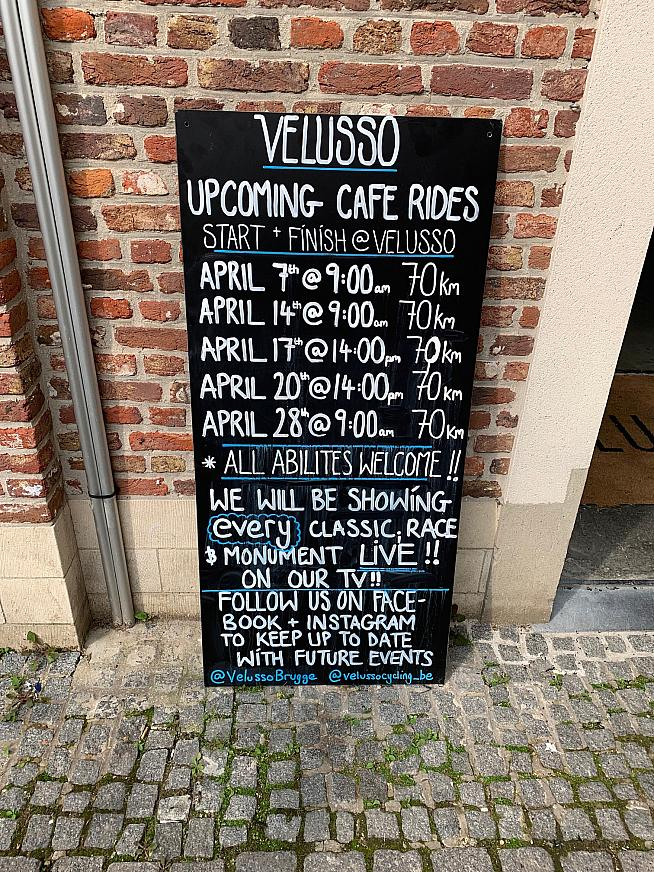 Plenty of club rides around Bruges to choose from
