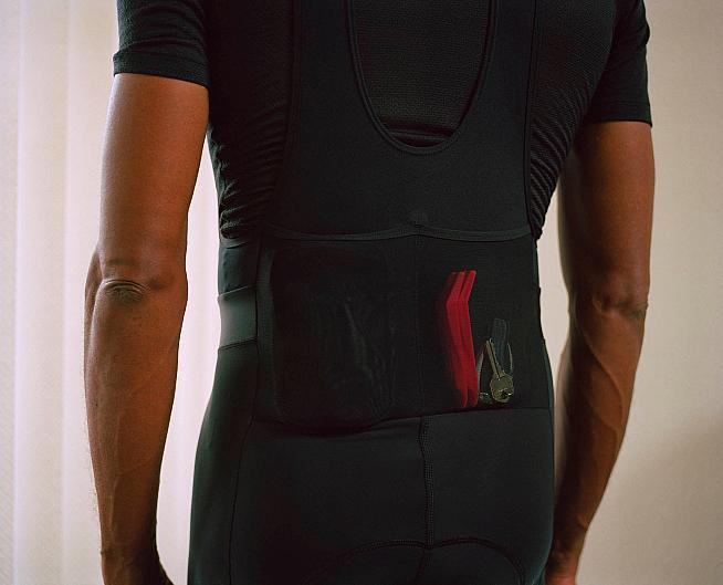 The Cargo bibs have pockets in the back too.