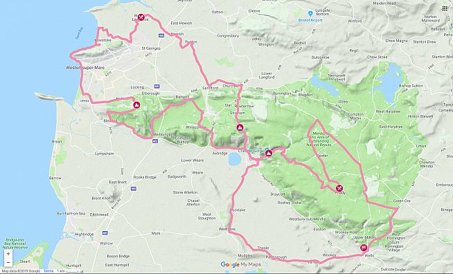 Paul rode the Medium route on the Evans Mendips Sportive.