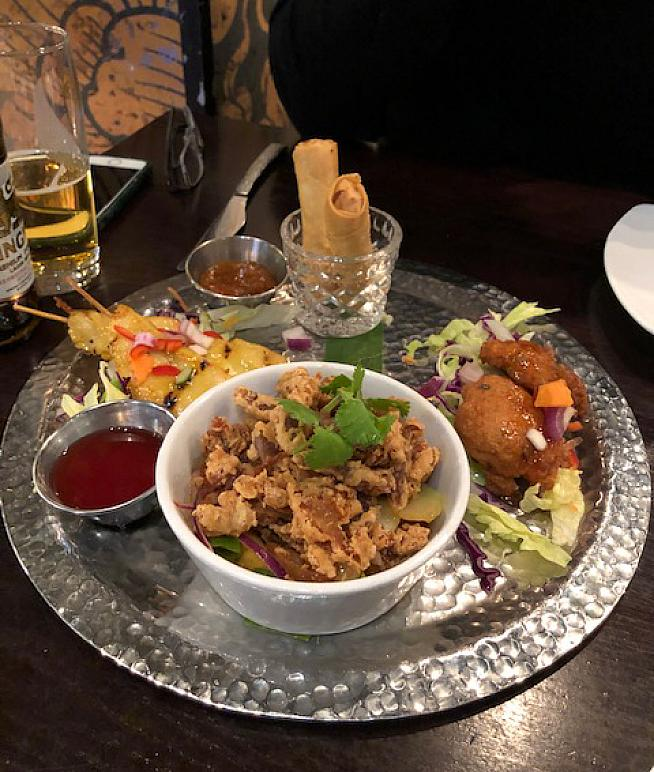 Mixed starter at the Sukhothai Restaurant on South Parade