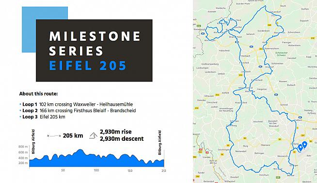 A first look at the course for the new Eifel 205 sportive.