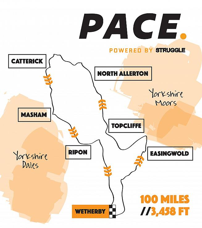 The Pace route isn't flat - but it does dodge a few hills for the sake of speed.