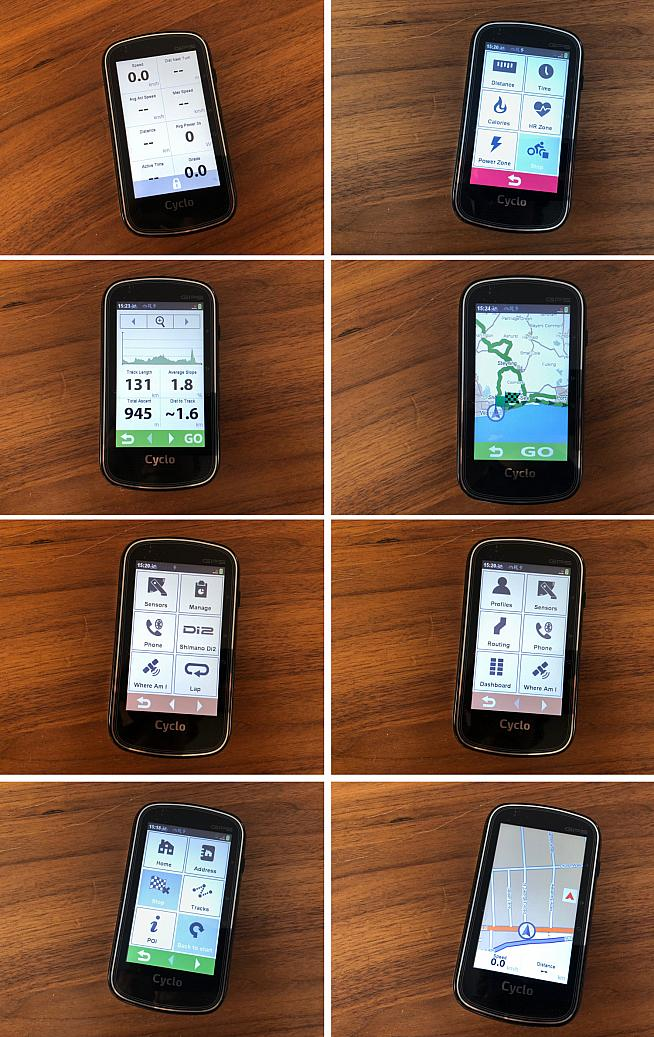 The Cyclo is packed with features and you can customise it to display an array of metrics while you ride.