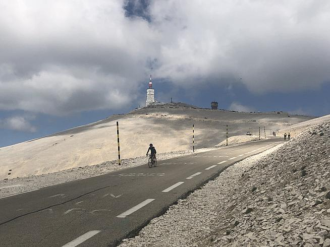 The weather station atop Mont Ventoux. Image: DC