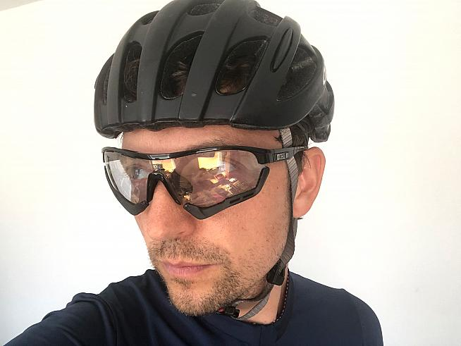 The Aerotech bronze lenses aren't fully mirrored but change tint according to light conditions.